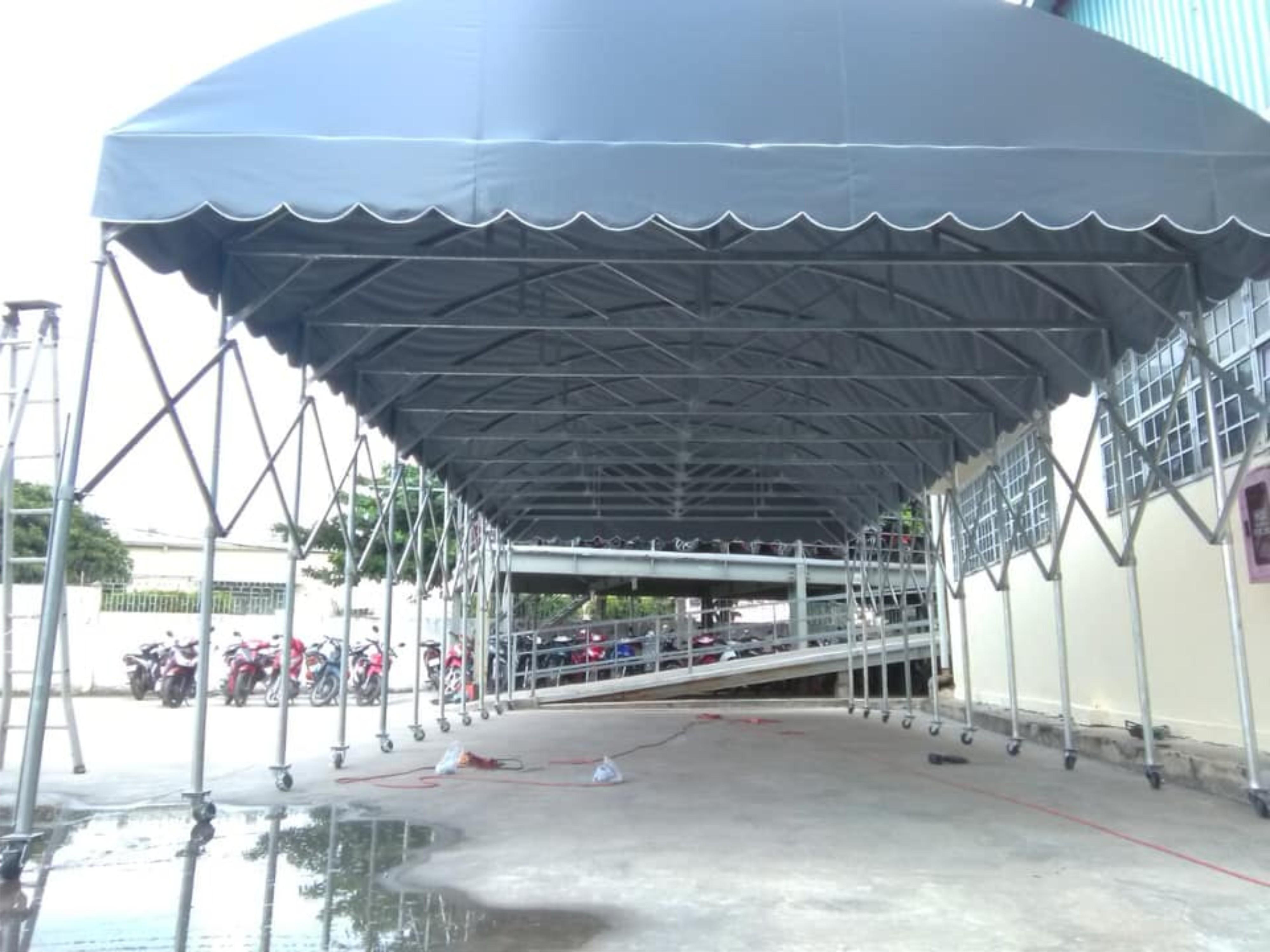 nhà vòm Dĩ An - mái vòm che nắng mưa giá rẻ bình dương
